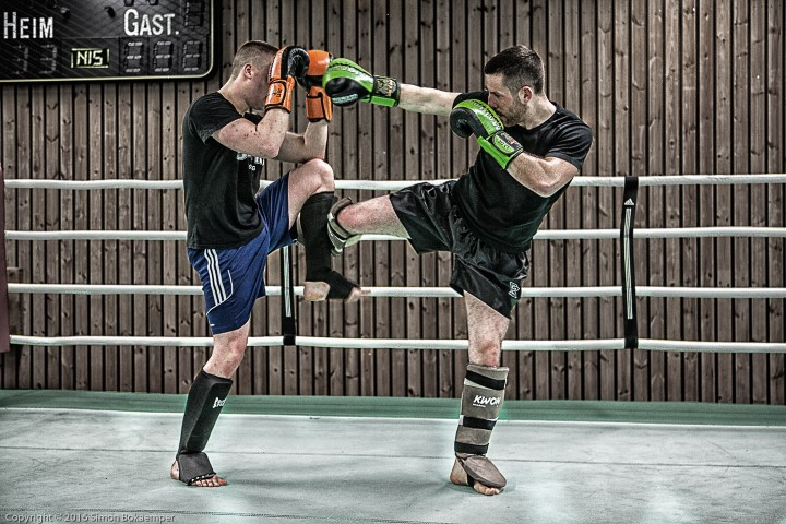 Sparring Kickboxen